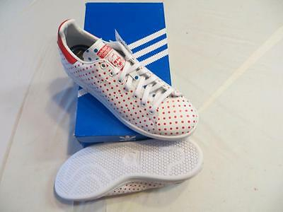 Adidas Stan Smith Originals Pharrell Williams (B25401) Mens S10 Polka Dot Wht