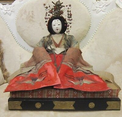 japanese Emperor And Empress19th cent. Dolls Meiji Period  REDUCED