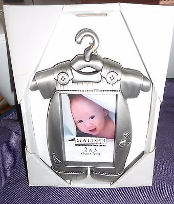 Malden Pewter Baby Boy Outfit Picture Frame (2x3)