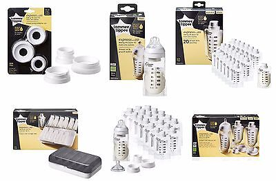 Tommee Tippee Express and Go: Bottles, Pouches, Storage, Adapters, Starter Set