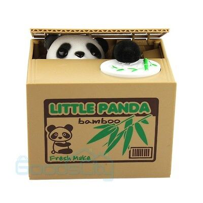 Automated Itazura Stealing Panda Coins Piggy Bank Money Saving Box Case Gift US