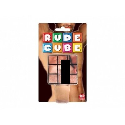 Rude Cube 3-D Combination Puzzle Great Fun At Home Or Stag Hen Nights