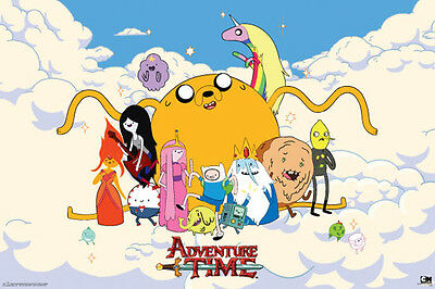 """Adventure Time """"Clouds"""" Poster  61cmx91cm  New Licensed"""