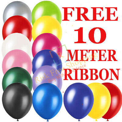 100 LARGE PLAIN BALONS BALLONS helium BALLOONS Quality Birthday Wedding BALOON