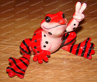 Spots and Stripes FROG (Peace Frogs by Westland, 18860) Ceramic