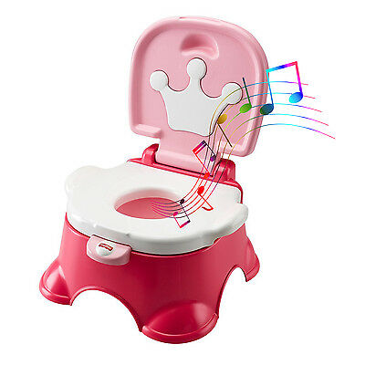 Potty Training Chair Seat Baby Kids Toddler Toilet Pee Trainer Stepstool Girls