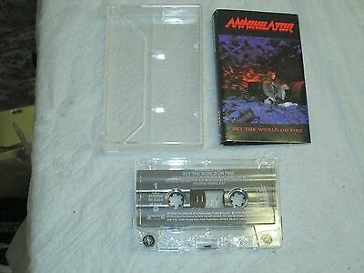 Annihilator - Set the World On Fire (Cassette, Tape) Working Great Tested