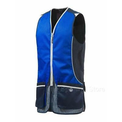 Beretta GT31 Silver Pigeon Shooting Vest In Blue & Navy