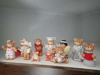 Lot of 11 Lucy & Me Bear Figurines