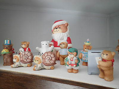 Lot of 10 Lucy & Me Bear Figurines