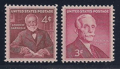 Andrew Carnegie + Andrew Mellon - 2 Vintage U.s. Postage Stamps - Mint Condition