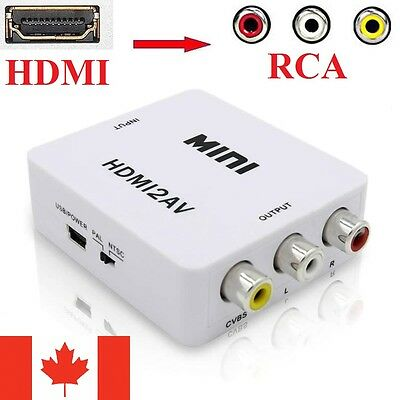 Mini Composite HDMI to RCA AV CVBS Video Converter Adapter Box 1080p 720p