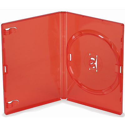 1 X Genuine Amaray Single DVD Red Case 14mm Spine - Pack of 1