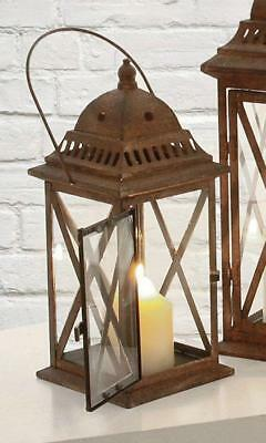 G2259: Rustic Garden Lantern in country house style, Lantern Brown Dome 31 cm