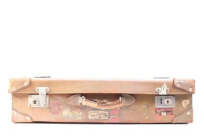 Beautiful old suitcase Leather Travel cases Iconic Design Vintage