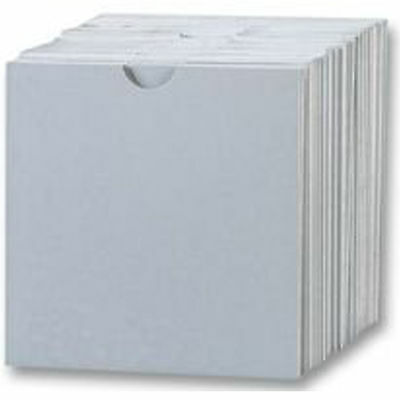 100 CD Cardboard Sleeves With Thumbcut / Wallet White - 100 pack