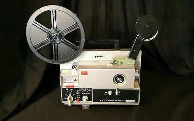 Elmo ST-600 D 8MM Vintage Movie Projector Excellent Clean Condition Working!!