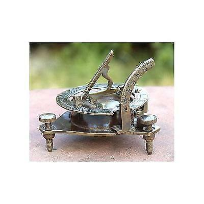 Antique Finish Sundial Compass Maritime Collectible Compass Brass Finish New
