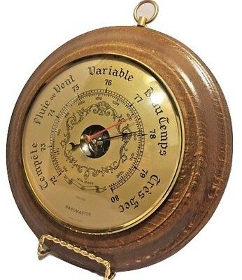 Baromaster Collectors French Barometer on Beautiful Vintage Wood Wall Display