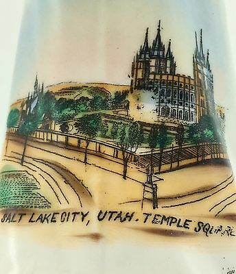 RARE Antique Salt Lake City Mormon Temple Square Souvenir Creamer Utah LDS