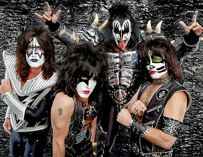 Kiss Gene Simmons Ace Frehley Paul Stanley Rock Band 8X10 Photo Photograph #6