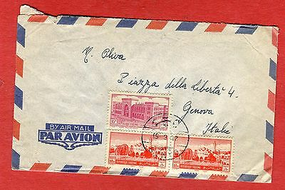 SYRIA - Cover from Damascus to Genova - Air Mail (3408)