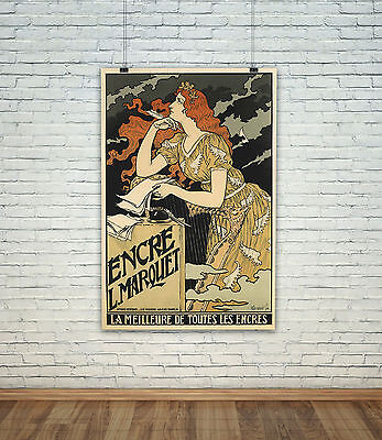 Art Deco French Nouveau Vintage Advertising Poster Photo All Sizes :  #A7567