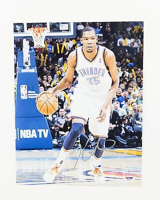 Kevin Durant Signed Autographed 11x14 Photo PSA DNA COA Thunder Warriors