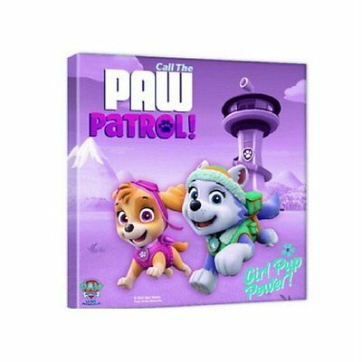 Girls Official Paw Patrol Skye Everest Wall Canvas Art Frame