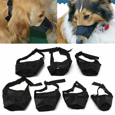 XS/S/M/L/XL Size Dog Pet Safety Mouth Cover Muzle Adjustable Anti Bite/Bark/Chew