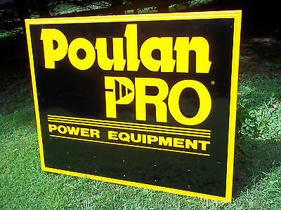 Original Poulan Pro Power Equipment Chain Saw Sign 58X46 Large Advertising