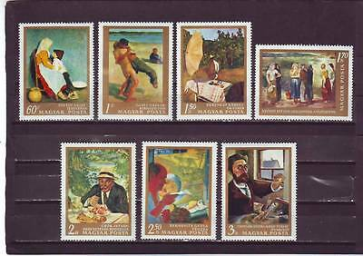 HUNGARY - SG2318-2324 MNH 1967 PAINTINGS IN NATIONAL GALLERY - 3rd SERIES