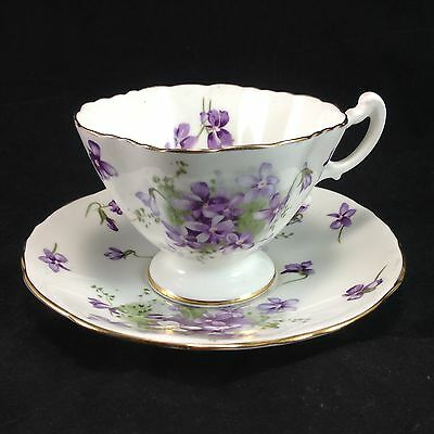 Hammersley Victorian Violets Porcelain Cup & Saucer Set Teacup England's Country