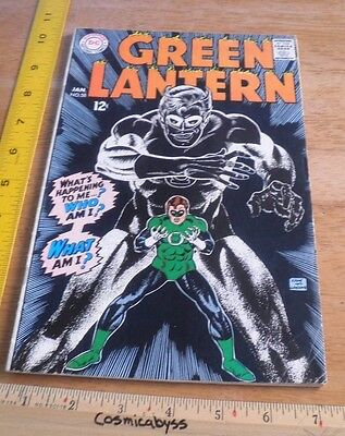 Green Lantern 58 comic 1960's Silver Age VG+ Kane art 12 cent book