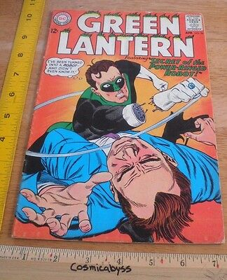Green Lantern 36 comic 1960's Silver Age VG 12 cent Power Ringed Robot