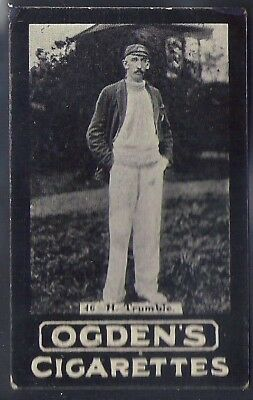Ogdens Tabs-Series E Cricket Card-#e046- Victoria - Trumble