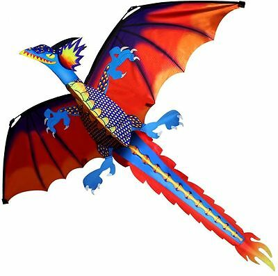 New Classical Dragon Kite 140cm x 120cm Single Line With Tail