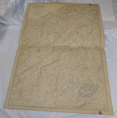 """1888 Topographical Map of New Jersey/CENTRAL HIGHLANDS/MORRIS, SUSSEX/27 x 36"""""""