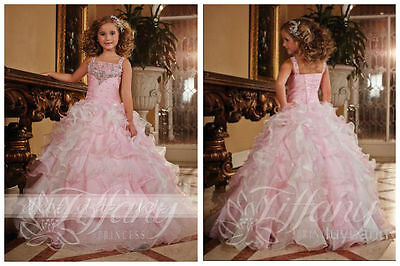 Flower Girls/Kids Pageant Dress Princess Teens Ball Gown Formal Birthday Party