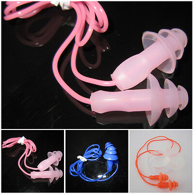 Adult Soft Wired Silicon Ear Bud Plug For Swimming Diving Pool Water Sea Sports