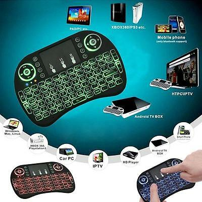 2.4GHz Mini Wireless Keyboard LED Backlight Remote Control for PC TV