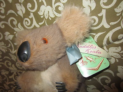 "VINTAGE Kuddles Koala Plush Stuffed Animal Australia 8"" KOALA & JOEY GIFTS"