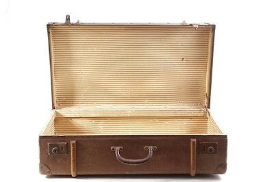 beautiful old suitcase Travel cases with Wood hardware old vintage