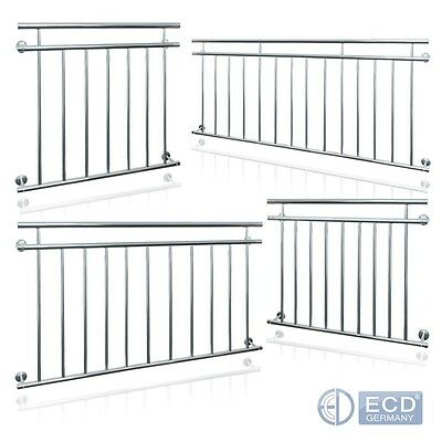 FRENCH BALCONY STAINLESS STEEL 90 x 100/128/156/184/225 cm RAILING BALUSTRADES