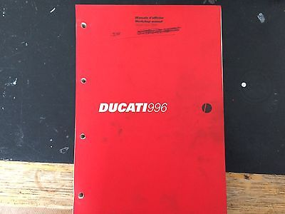 Ducati 996 1999 model Workshop Manual Printed