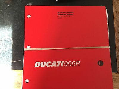Ducati 999R 2004 Model Workshop Manual Printed