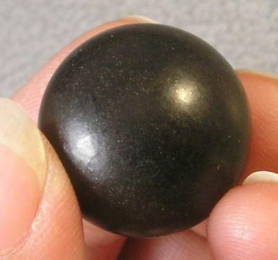 """Natural Jet sphere .78""""  20mm protection dispell grief"""