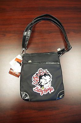 Collectible Betty Boop Black Crossbody Shoulder Bag, NWT