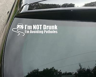 LARGE Avoiding Potholes Funny Car/Window JDM VW EURO Vinyl Decal Sticker