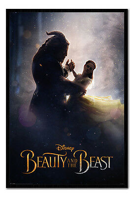 Framed Beauty & The Beast Movie Dance Poster New